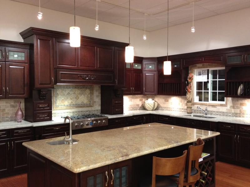 Hy kitchen cabinet stone inc hy kitchen cabinet for Cinnamon cherry kitchen cabinets